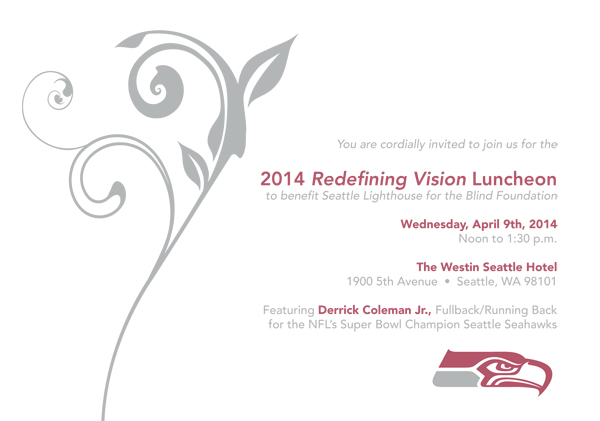 2014 Redefining Vision Luncheon invitation - April 9th, 2014