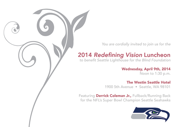 2014 Redefining Vision Luncheon invitation graphic