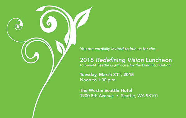 2015 Redefining Vision Luncheon invitation graphic