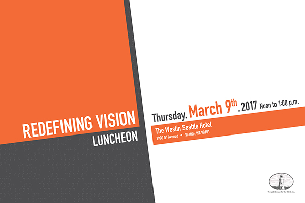 Redefining Vision Luncheon save the date graphic