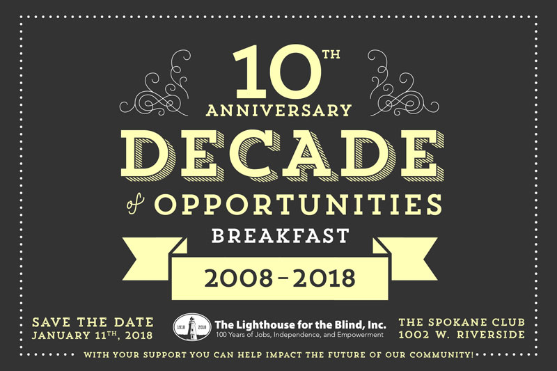 Decade of Opportunities graphic with Lighthouse logo