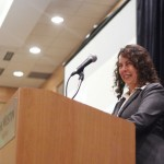 Accessibility Manager Peggy Martinez speaking at the 2012 Redefining Vision Luncheon