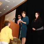 Drawing of braille raffle tickets at the 2012 Redefining Vision Luncheon
