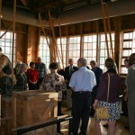 Guests gather for a docent tour of the Red Barn.