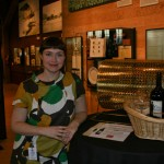 Breean Cox, who helped in sourcing the magnum of wine and crystal glasses for the raffle prize.