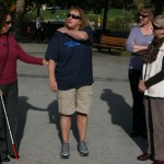 Peggy Martinez and Beth Jurco explain how to be a sighted guide