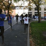 Riverfront Park statues dressed in INL shirts and white canes