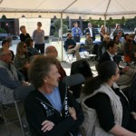 White Cane Walk guests listening to speakers