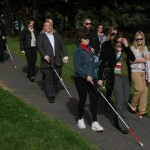 White Cane users traveling the course of Riverfront Park