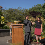 Mark Landreneau, Goverment Relations Specialist addressed the crowd with the assistance of an interpreter