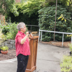 King County Master Gardener Helen Weber speaking at Redefining Vision In Bloom