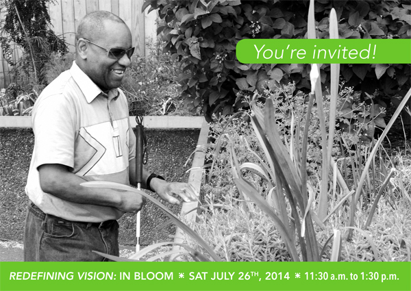 Redefining Vision: In Bloom invitation graphic