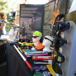 Orientation and Mobility equipment display at the Redefining Vision Garden Party