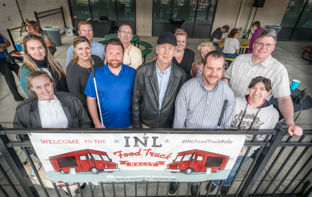 Group photo of Lighthouse staff at the 2017 INL Food Truck Rally